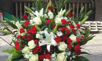紅白スタンド花お祝い