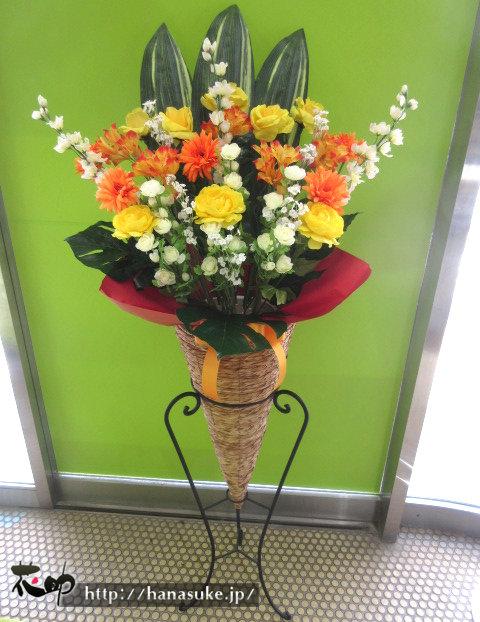 仙台へ造花のスタンド花