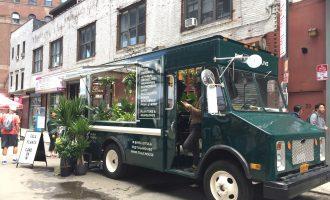 トラックの観葉植物屋さん